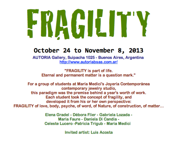 Fragility poster
