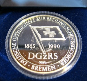 Medalla del Deutsche Gesellschaft zur Rettung Schiffbrüchiger.